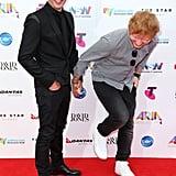 2015: James Blunt and Ed Sheeran