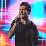 "Adam Levine sang ""Moves Like Jagger."""