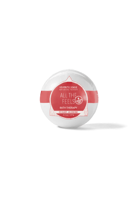 Seventh Sense Hemp-Derived CBD Bath Bomb in Cedar Jasmine