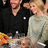 Gwyneth Paltrow and Chris Martin popped up in the audience despite skipping the red carpet.  Source: Christopher Polk/NBC/NBCU Photo Bank/NBC