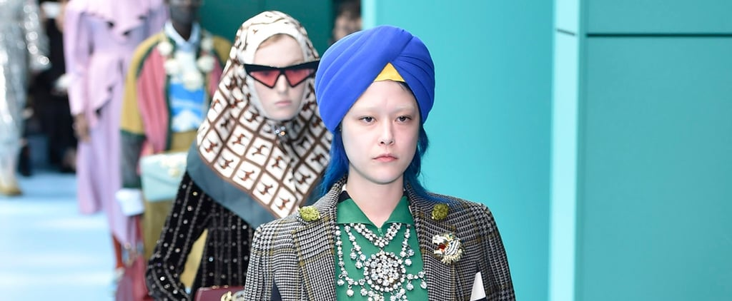 Gucci Models Wearing Turbans Fall 2018