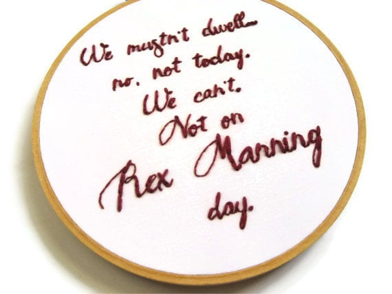 Empire Records Rex Manning Day Embroidered Art ($62)