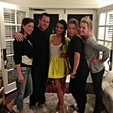 Lea Michele posed with her glam squad before heading to a TCA event. Source: Instagram user melaniemakeup