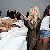 Kim Kardashian Visits Kanye West's Famous Art Exhibit 2016