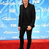 Keith Urban went for an all-black look.