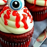 Cherry and Red Velvet Eyeball Cupcakes