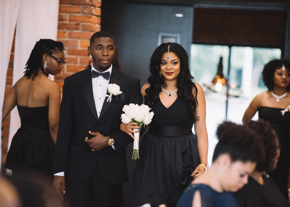 This Bride Beautifully Meshed Traditional African and Indian Attire With a Modern Twist