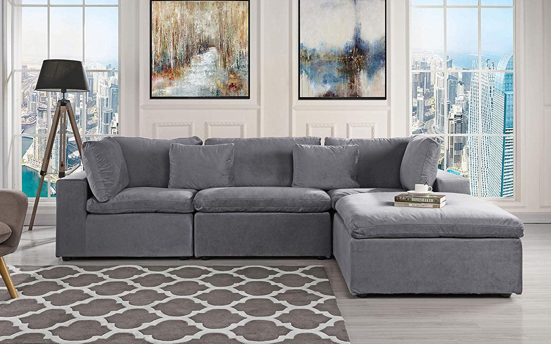 Classic Large Velvet Sectional Sofa | 16 Stylish Sectional ...