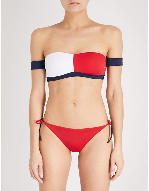 b897a427 Tommy Hilfiger Off-the-Shoulder Bikini | Kim Kardashian Red Chanel ...