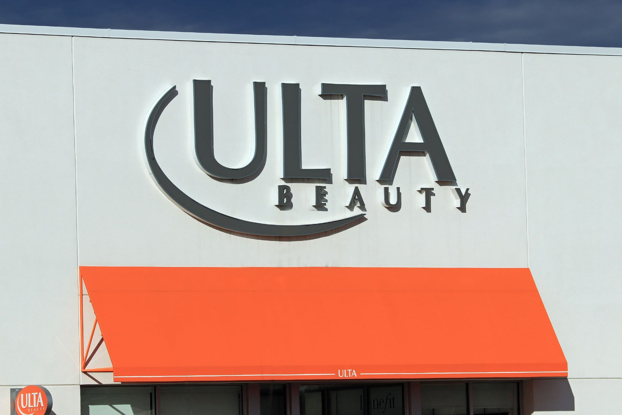 Ulta Beauty store entrance sign at a mall, northern Idaho. (Photo by: Don & Melinda Crawford/Education Images/Universal Images Group via Getty Images)