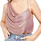 Free People Shimmy Shimmy Metallic Tank Top