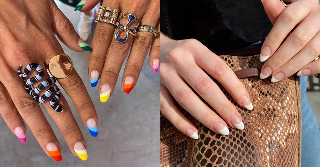Nail-Art Trend 2020: Slanted French Manicure