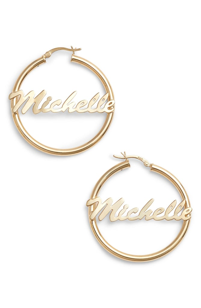 Argento Vivo Personalized Large Hoop Earrings