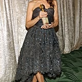 Cool gray femme at the 2004 Golden Globe Awards — congrats!