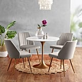 Marble Top Leilani Tulip Dining Table