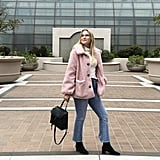 Pink Teddy Coat: Keep It Cozy With a Sweater and Jeans