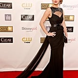 Jennifer Lawrence brought the drama in this cutout Prabal Gurung gown — a perfect blend of sexy and edgy.