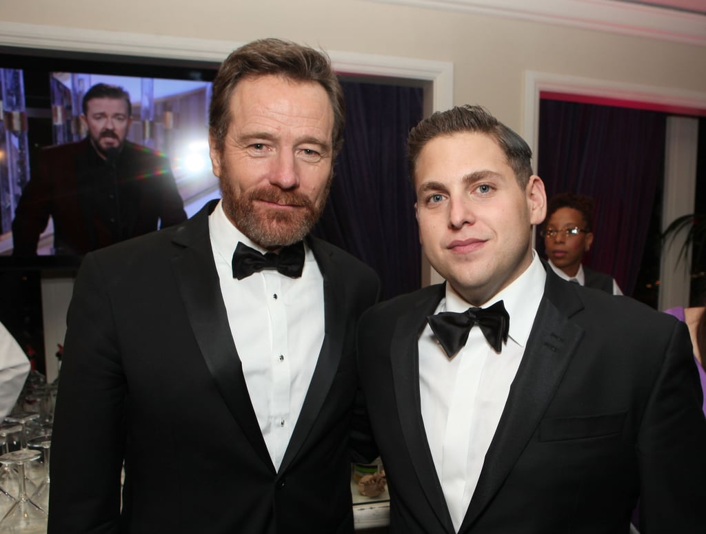 Bryan Cranston and Jonah Hill hung out at the Sony Golden Globes afterparty.