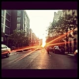 Mikeyrizz's peaceful view of Manhattanhenge.