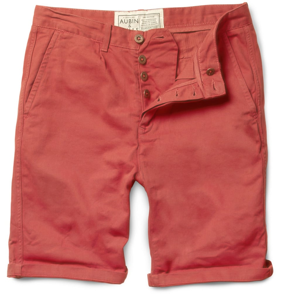 Try to get Dad to ditch his tired khakis; these slouchy shorts are perfect for lounging by the pool, and can easily be worn out to dinner.  Aubin & Wills Aballay Straight-Leg Cotton-Twill Shorts ($120)