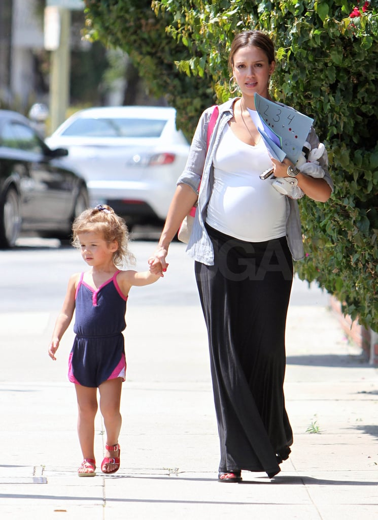 Jessica Alba was on mommy duty as she picked up her daughter, Honor Warren.
