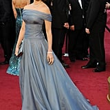 The ever-gorgeous Penelope Cruz channeled a modern-day princess vibe in a custom Giorgio Armani periwinkle organza gown along and Chopard jewels.