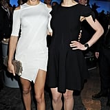 Adriana Lima said hello to Rosamund Pike at the SIHH High Jewelry Fair in Geneva.