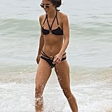 The actress wore an Agent Provocateur bikini.