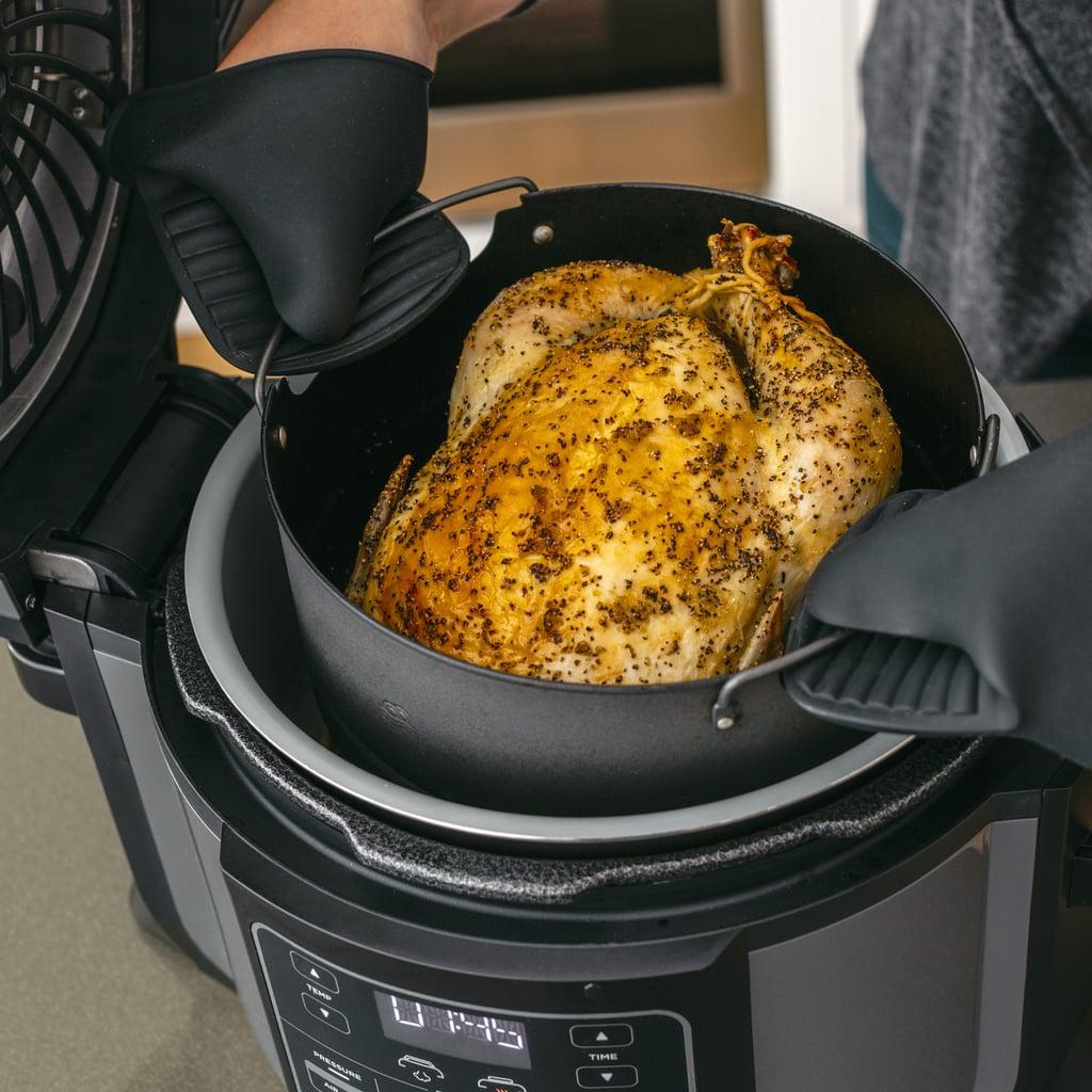 Pressure Cook Chicken To Lock In The Juices, Then Crisp Up