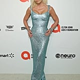 Donatella Versace at the 2020 Elton John AIDS Foundation Academy Oscars Party