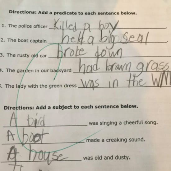 Student's Answer to Question About the Police on Homework