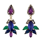 These Erickson Beamon multicolored crystal chandelier earrings ($125) bring the right kind of drama to a big night out.