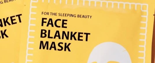 Peach and Lily Face Blanket Mask