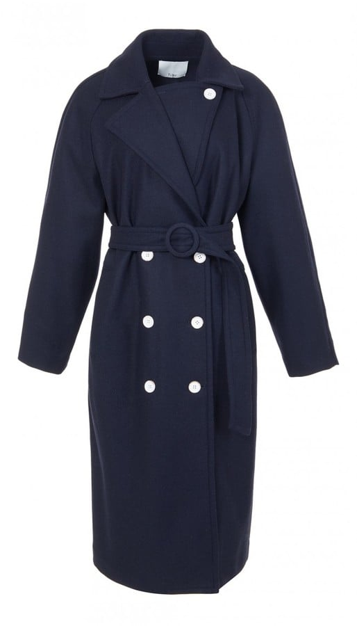 Tibi Bonded Wool Double Breasted Coat