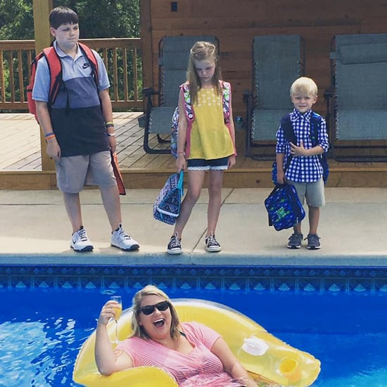 Mom's Funny Back-to-School Photo