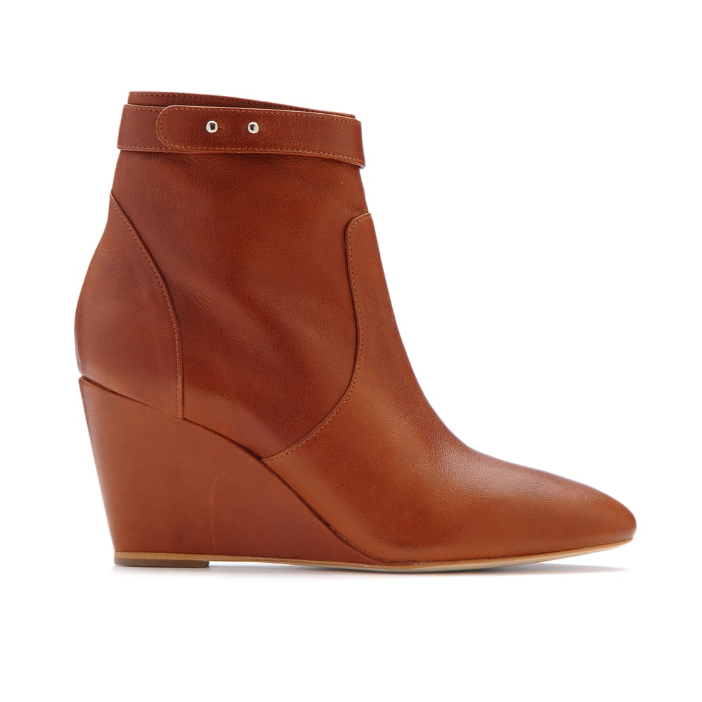 Smart shoe shopping means buying ankle boots you can wear with minis now and jeans later. These Loeffler Randall wedges ($395) fit the bill perfectly.
