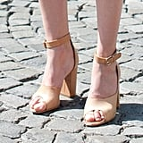 We're also obsessed with Hanneli's footwear — a leg-lengthening pair of Phillip Lim heels.