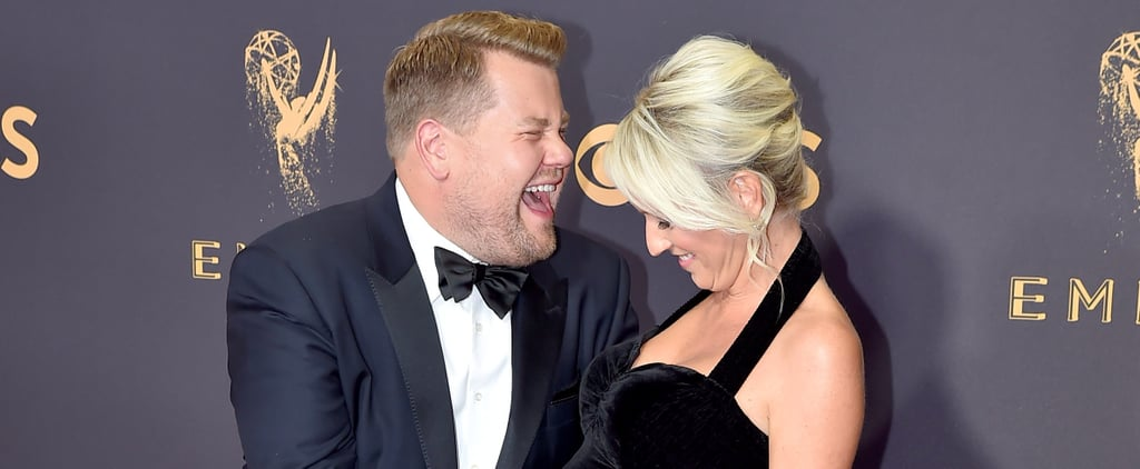 James Corden Rubbing His Wife's Belly at the Emmys Will Make You Smile From Ear to Ear