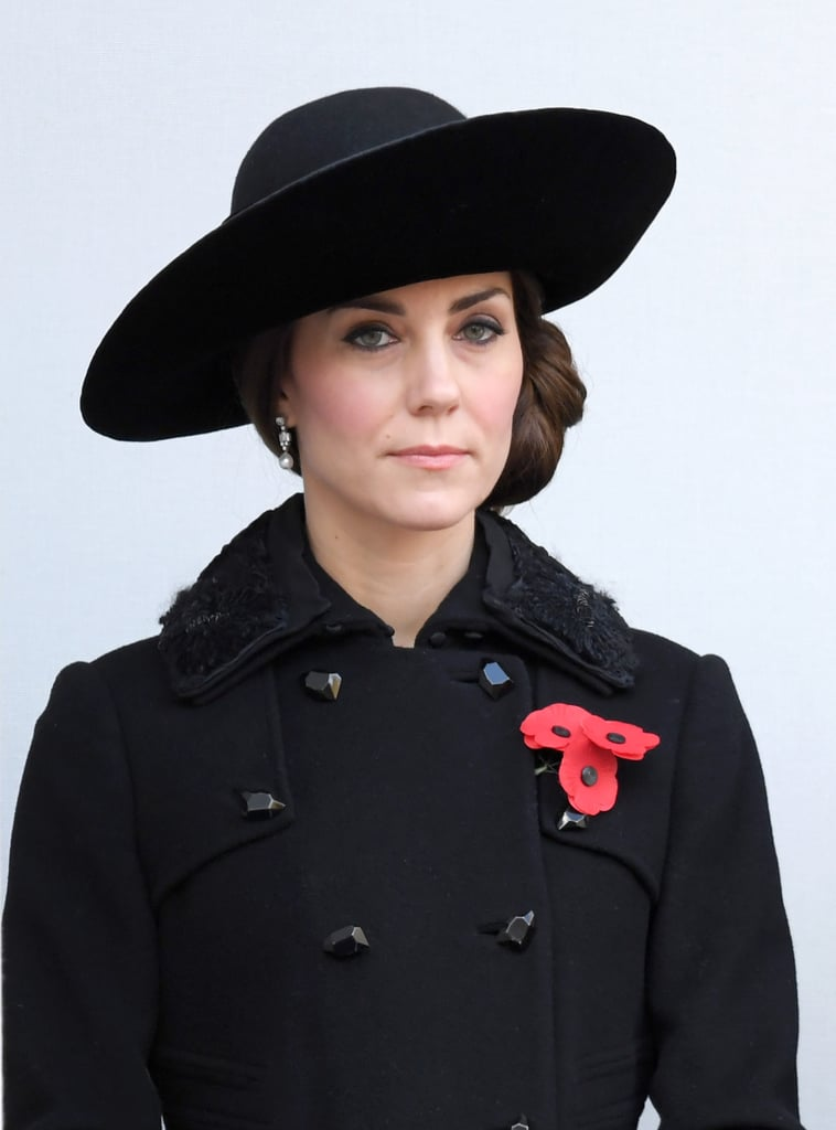 After her solo outing in London last week, Kate Middleton attended the British Legion's Festival of Remembrance with Prince William at the Royal Albert Hall in London on Saturday. The royal couple was joined by Queen Elizabeth II and Prince Philip and sported red poppies as a symbol of remembrance and hope. The following day, the royal couple, along with Prince Harry, made an appearance at the annual Remembrance Sunday service at the Cenotaph war memorial. Harry and William wore their regiment uniforms and participated in a commemorative wreath-laying ceremony. The event takes place every year on the second Sunday of November and focuses on the remembrance of those who have suffered or died at war.  It's shaping up to be another exciting month for Prince Harry. Not only did he pop up at a rugby match between England and South Africa with Princess Charlene of Monaco over the weekend, but he also grabbed headlines for his new romance with Suits star Meghan Markle, and is set to embark on a 14-day Caribbean tour later this month.