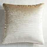Pier 1 Imports Luxe Velvet Ivory Striped Pillow