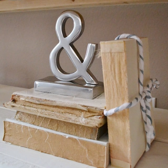 The find: an ampersand bookend.