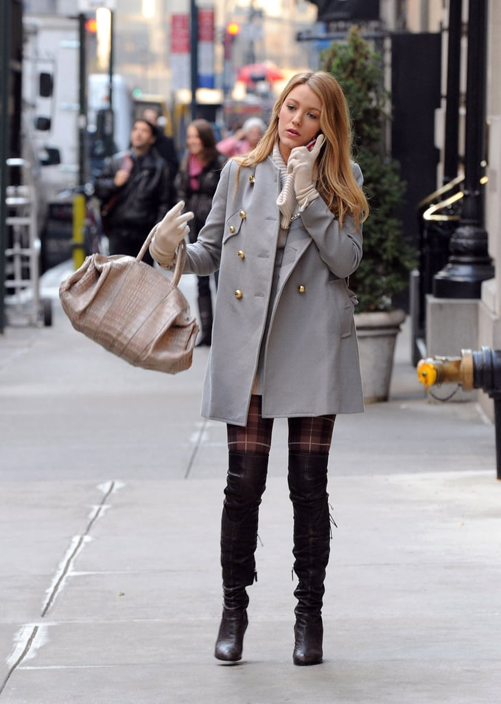 Photos of Blake Lively and Kevin Zegers on Gossip Girl Set