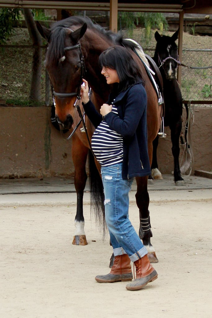 Selma Blair and Her Bump Share a Special Moment With Her Horse