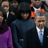 President Barack Obama Is Sworn in With Michelle and Daughters by His Side