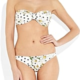 Blending punchy polka dots and daisies, this bandeau bikini will bring a whole lot of sweetness and sunshine to the pool. Dolce & Gabbana Daisy-Print Bandeau Bikini Top ($305) and Bikini Briefs ($230)