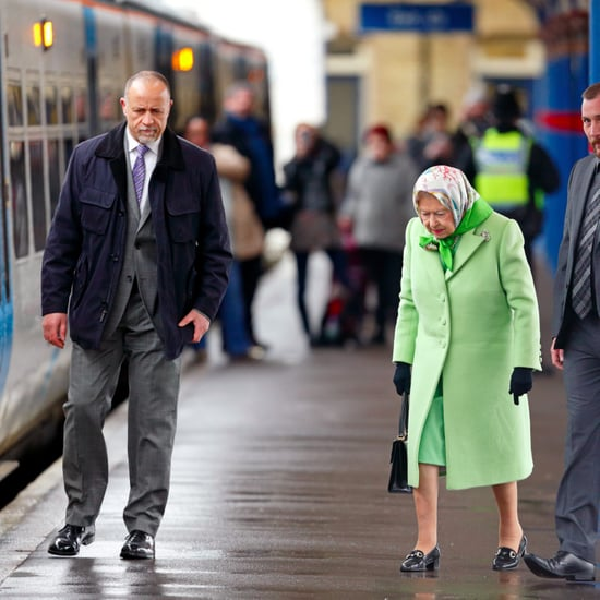 Queen Elizabeth II Catching Train to King's Cross Feb. 2017