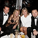Mama's boys! Leonardo DiCaprio and Bradley Cooper got together with their moms at the Weinstein Company party.