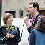 Lena Dunham was interviewed for the Fuse show Billy on the Street.