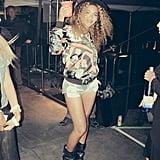 Beyoncé partied backstage at Coachella in April 2014.