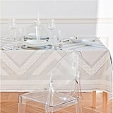Silver printed tablecloth and napkins ($7-$30, originally $15-$60)